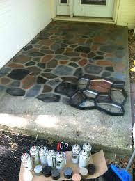 sheen painting outdoor concrete patio the smart spray painted faux stones on concrete patio paint concrete