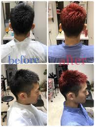 南草津のメンズ美容院mioの人とかぶらない赤髪ショートメンズスタイルが