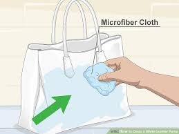 image titled clean a white leather purse step 1