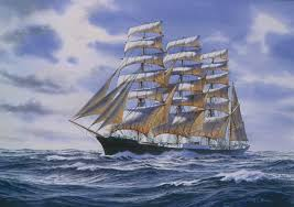 oil painting of the tall ship moshulu