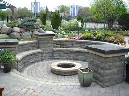 stone patio fire pit plans patio catchy