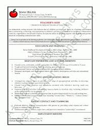 Special Education Teacher Resume Template Awesome Teacher Assistant