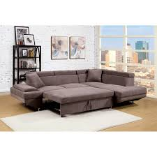 sylvester contemporary sectional sleeper sofa chrome finished legs