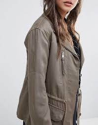 allsaints allsaints amaris jacket women dust olive green