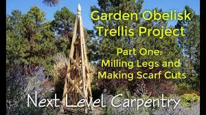 garden obelisk trellis. Garden Obelisk Trellis Build Part One: The Legs