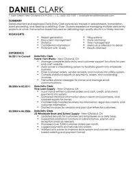 Best Data Entry Clerk Resume Example Livecareer