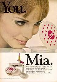 mia cosmetics ad 1967