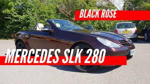 mercedes slk 280 wrapped in black rose
