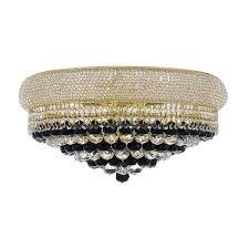 flush mount crystal chandelier gold lights jolie chrome drum shade semi
