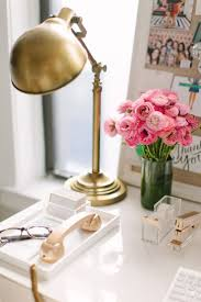 2 kate spade glam decor gold pink office design workspace ideas