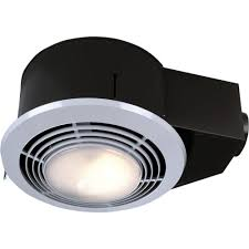 Bathroom Light Vent 100 Cfm Ceiling Exhaust Fan With Light And Heater Qt9093wh The