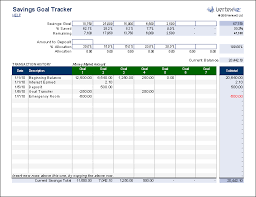 savings excel spreadsheet free savings goal tracker for people who budget