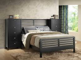 Modern Bedroom Furniture With Black Wooden Full Platform Bed, And ... Pier  One