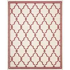 amherst ivory red 8 ft x 10 ft indoor outdoor area rug