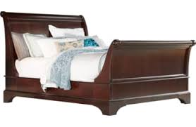 Queen Size Cherry Wood Sleigh Bed - Home Design Ideas