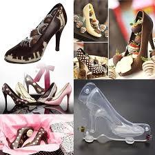 1Pcs Lady <b>High Heel</b> Plastic <b>3D Shoes</b> Chocolate Mold DIY Sugar ...