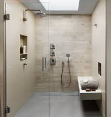 Contemporary 3/4 Bathroom with frameless showerdoor, Riobel - Single-Hole  Faucet,