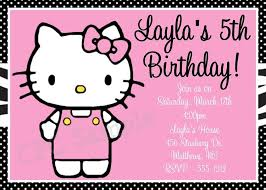 Hello Kitty Birthday Invitations Printable Digital Custom Party