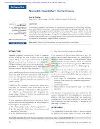 Pdf Neonatal Resuscitation Current Issues