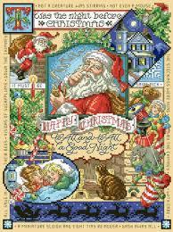Christmas Chart Images Night Before Christmas Cross Stitch Chart
