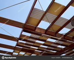 Modern Arbor Design Modern Design Pergola Arbor Made Wood And Metal Stock