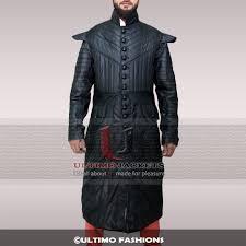 black sails s3 pirate captain leather long coat for men