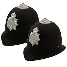 2 X Childrens Kids Police Policeman Helmet Hat Boys Girls Fancy