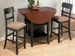 round collapsible dining table with storage underneath feat black height stools