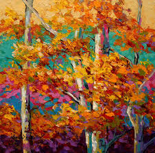 trees painting abstract autumn iii by marion rose