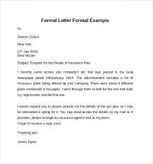 Format Of Official Letter Formal Business Letter Format Official Sample Template Model