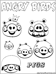Adult ~ Pig Coloring Pages Simple Cartoon Pig Pictures Of The ...
