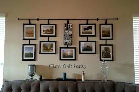 picture frame wall art craft house wall decor curtain rods with hanging frames unique large wall