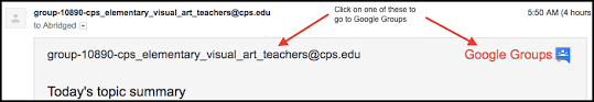 Cps Edu Join The Arts Google Groups Department Of Arts Education