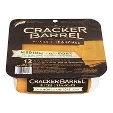 Cracker Barrel Light Cheese Cracker Barrel Medium Cheddar Light Natural Cheese Slices