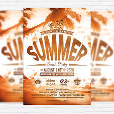 Summer Beach Party Vol.4 – Premium Flyer Template + Facebook Cover ...