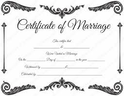 Wedding Certificate Template Custom Collection Of Free Certified Clipart Marriage Certificate Download