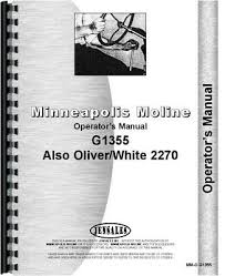 g1355 minneapolis moline tractor technical service shop repair minneapolis moline g1355 oliver 2270 tractor operators owners manual
