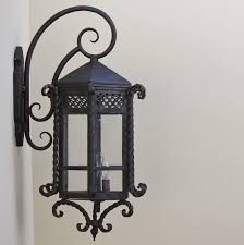 spanish style custom iron outdoor lighting fixture lightbox moreview