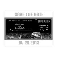 Wedding Invitations Boarding Pass Save The Date Vegas Antique