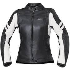 held las katy leather jacket black white