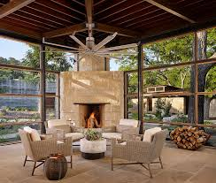 furniture excellent contemporary sunroom design. Designs IdeasCozy Contemporary Sunroom With Modern Wicker Furniture Near Stone Rustic Fireplace Cozy Excellent Design