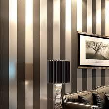 Black Stripe Wallpaper 4501 Source  Non woven black white silver gold  glitter striped wallpaper roll papel de parede for livingroom bedroom