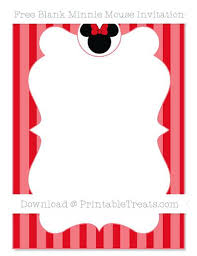 Red Minnie Mouse Invitations Free Memokids Co