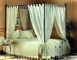4 Poster Bed Curtains Four Canopy Drapes For Single C – qblabs