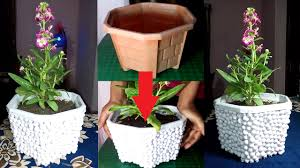 Pot Making Ideas: Give a decent look to an old Plastic pot with Beans