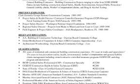 Resumes General Contractor Resume Construction Worker Job Within
