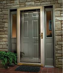 glass front door designs. Grey Finished Modern Single Swing Front Door Ideas Feat Double Half Glass Windows Stacked Stones Wall Panels Designs