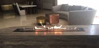 l ethanol burner insert with automatic electronic security