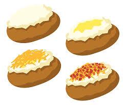 baked potato clip art. Modren Clip Baked Potato Vector Art Illustration On Clip Art O