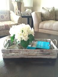 old and vintage diy square coffee table tray made from